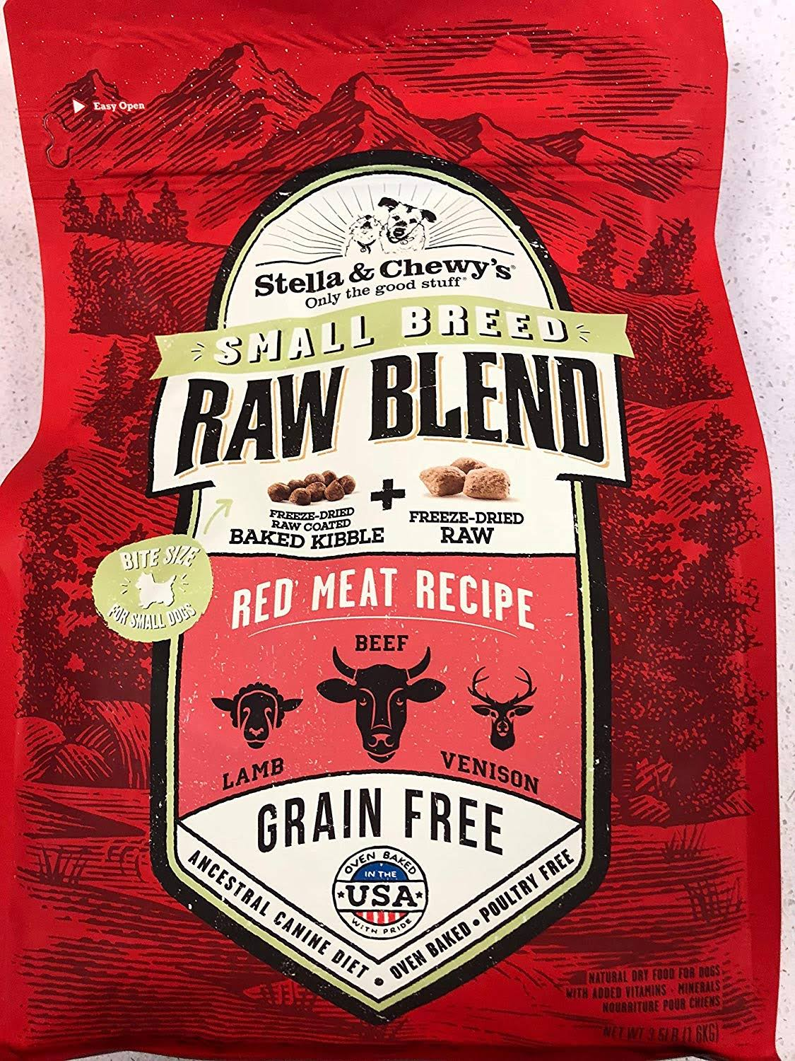 Stella & Chewy's Raw Blend Red Meat Small Breed Dry Dog Food 3.5 lbs
