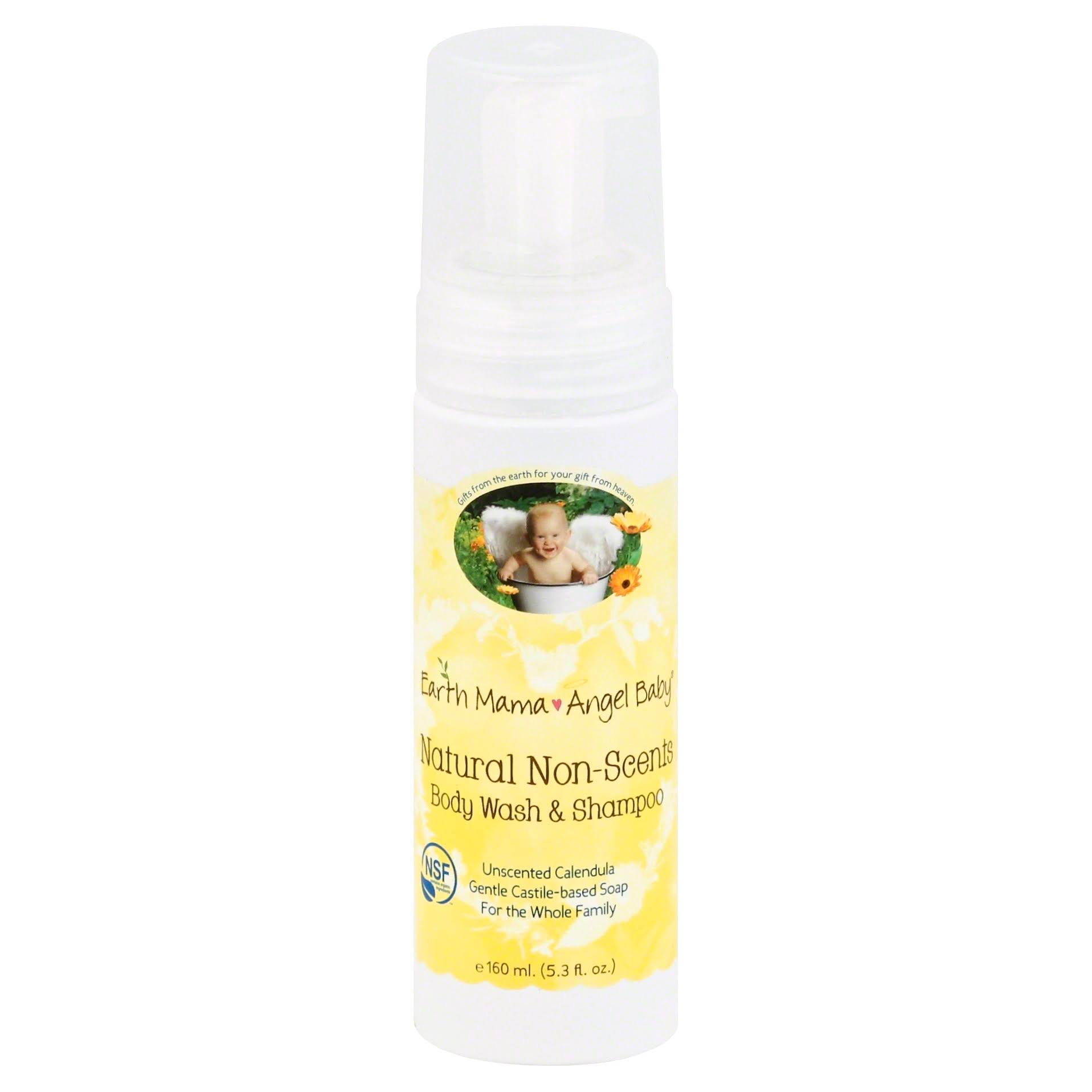 Earth Mama Angel Baby Natural Non-Scents Body Wash & Shampoo - 160ml