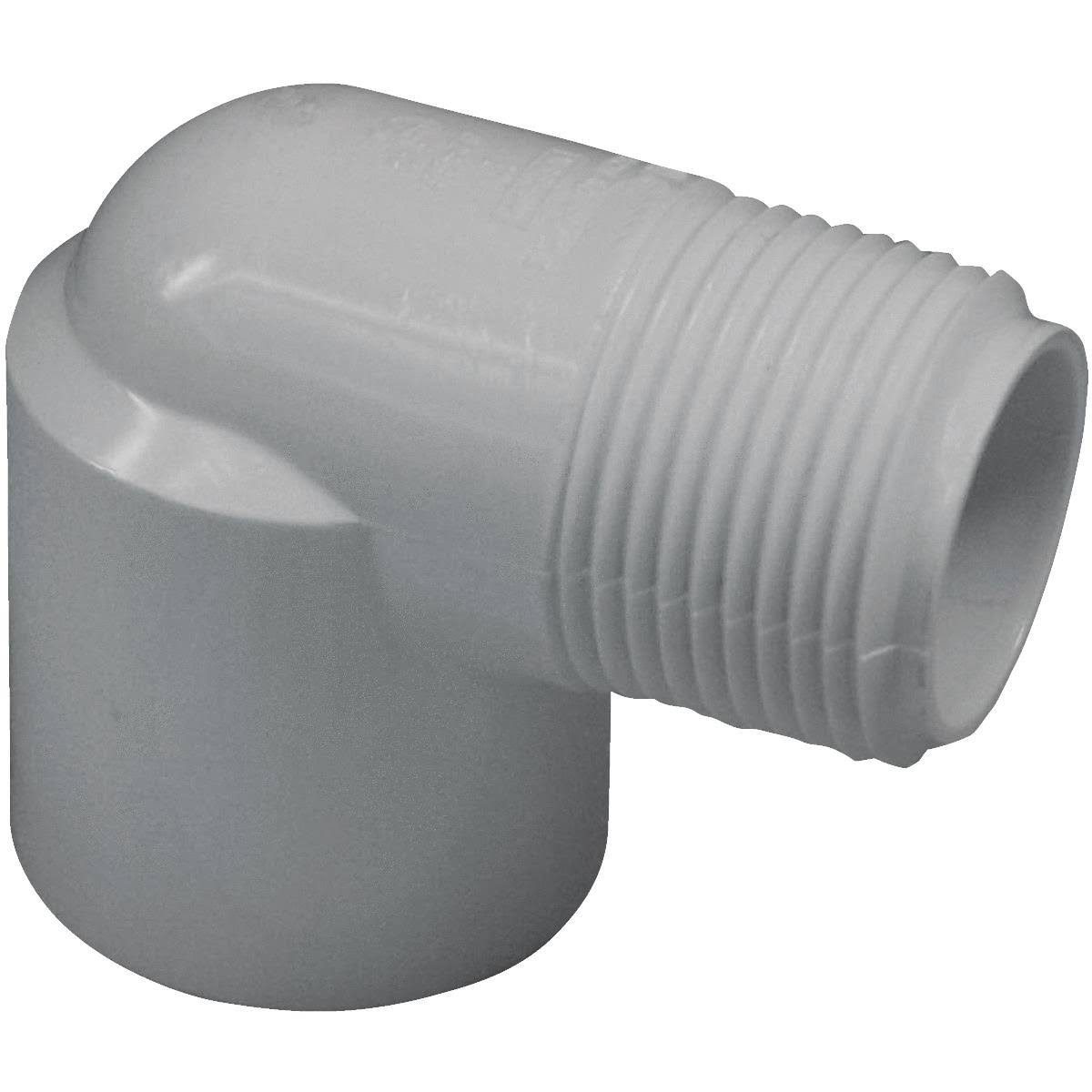 Genova PVC Street Elbow - 90 Degree, White