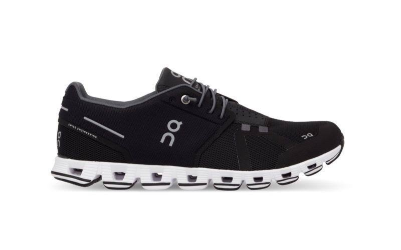 on Women's Cloud Running Shoes - Black/White - 7
