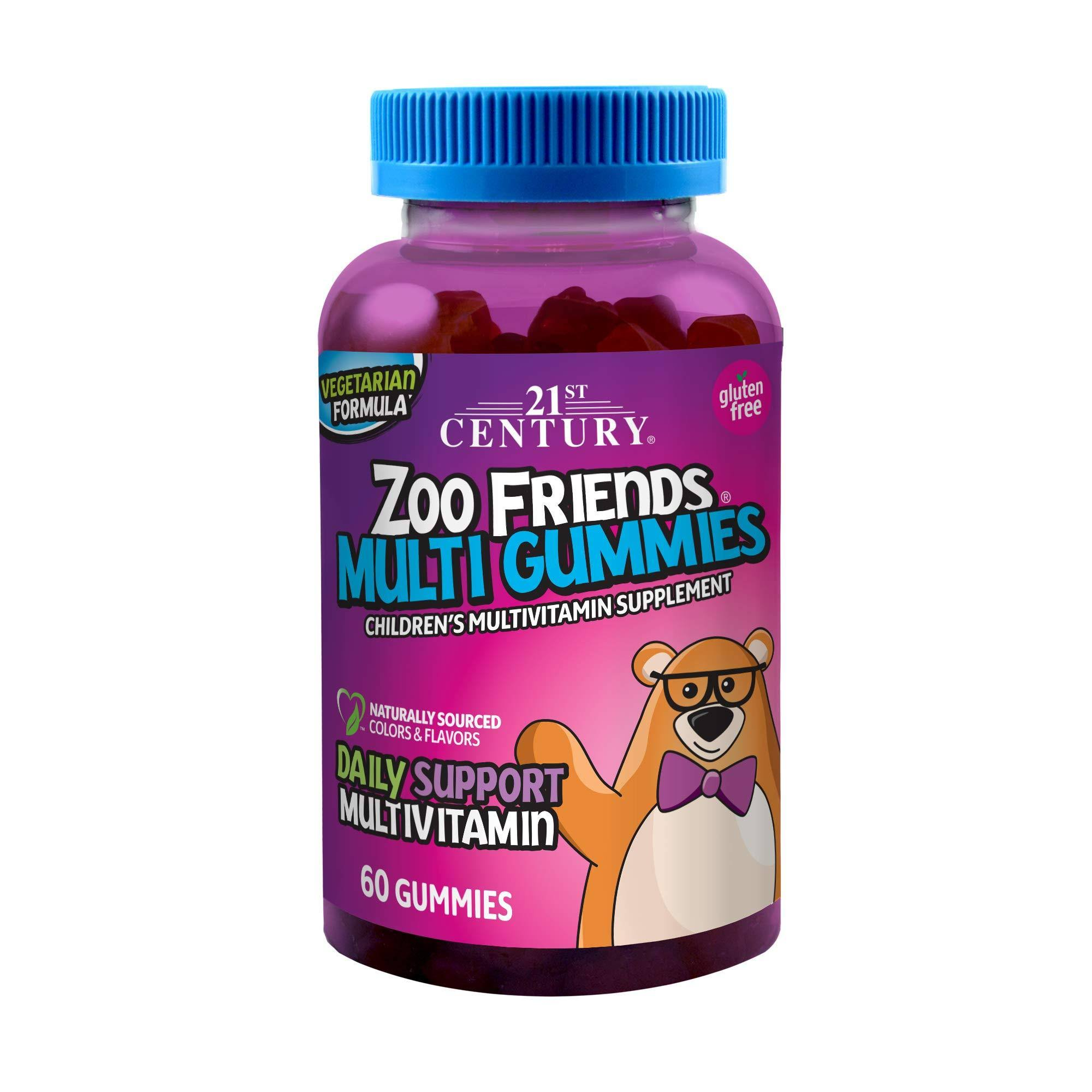 21st Century Zoo Friends Children's Multivitamin Supplement - Fruit, 60 Gummies