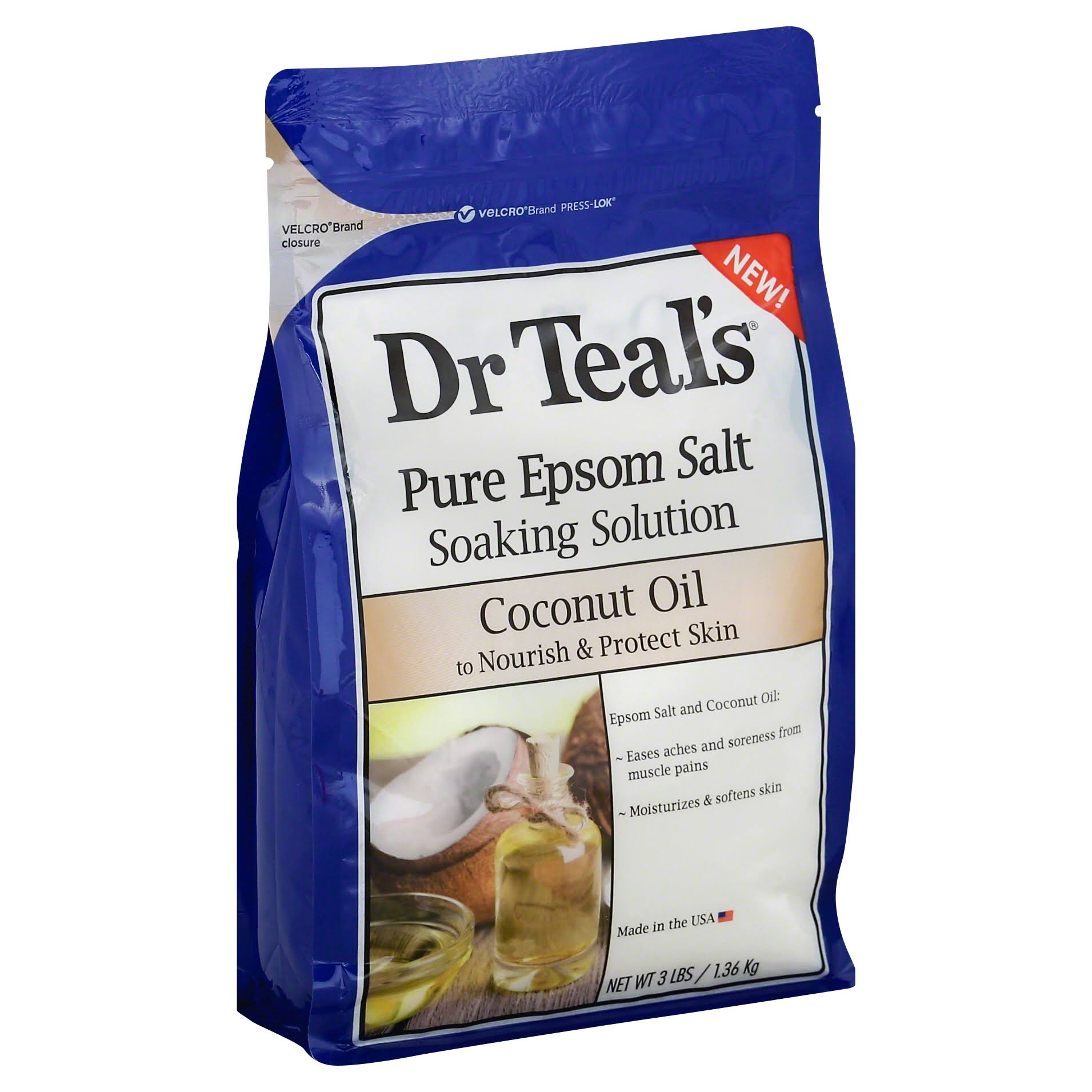 Dr Teal's Pure Epsom Salt Soaking Solution Coconut Oil