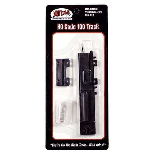 Atlas Code 100 Manual Switch Machine - Left-Hand, HO Scale