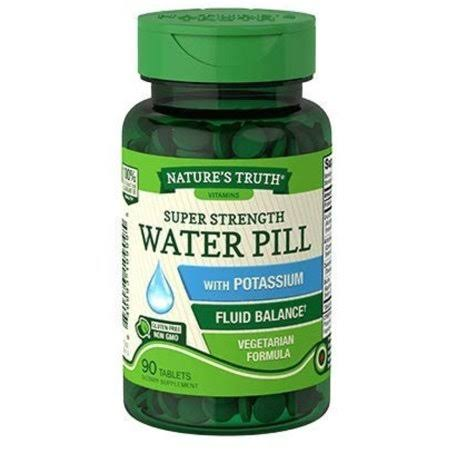 Nature's Truth Super Strength Water Pill - With Potassium, 90 Coated Caplets