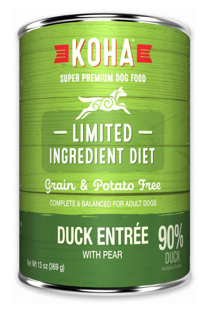 KOHA Lid Duck Entrée for Dogs | Tomlinson's Feed 13 oz