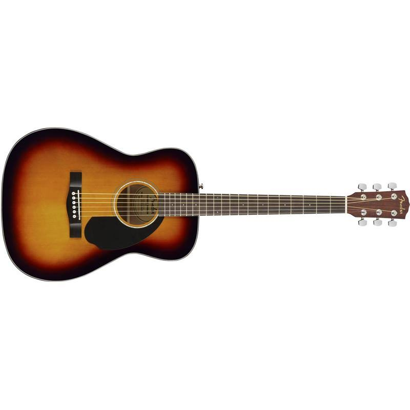 Fender CC60S Acoustic Guitar - Indian Laurel Fretboard, 3 Color Sunburst