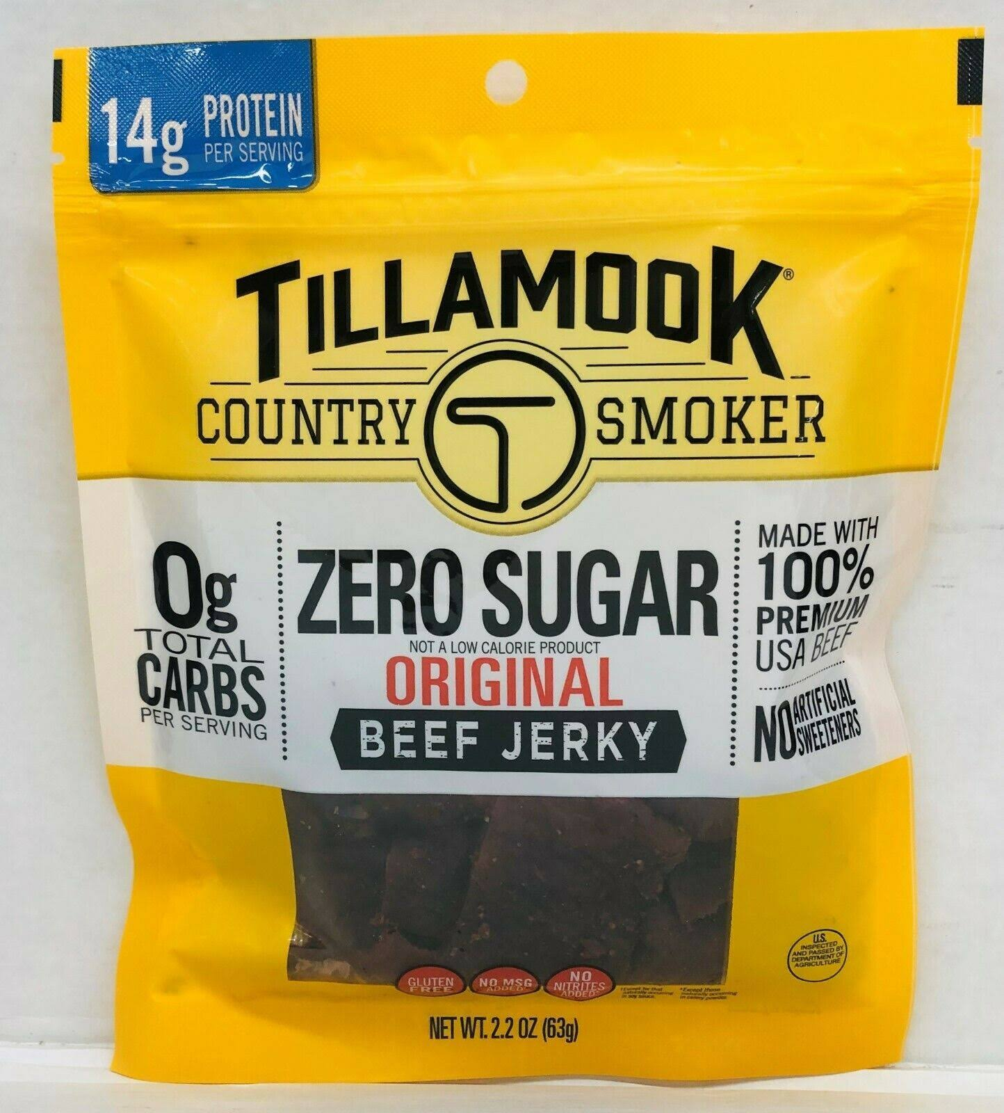Tillamook Country Smoker Zero Sugar Original Beef Jerky - 2.2oz