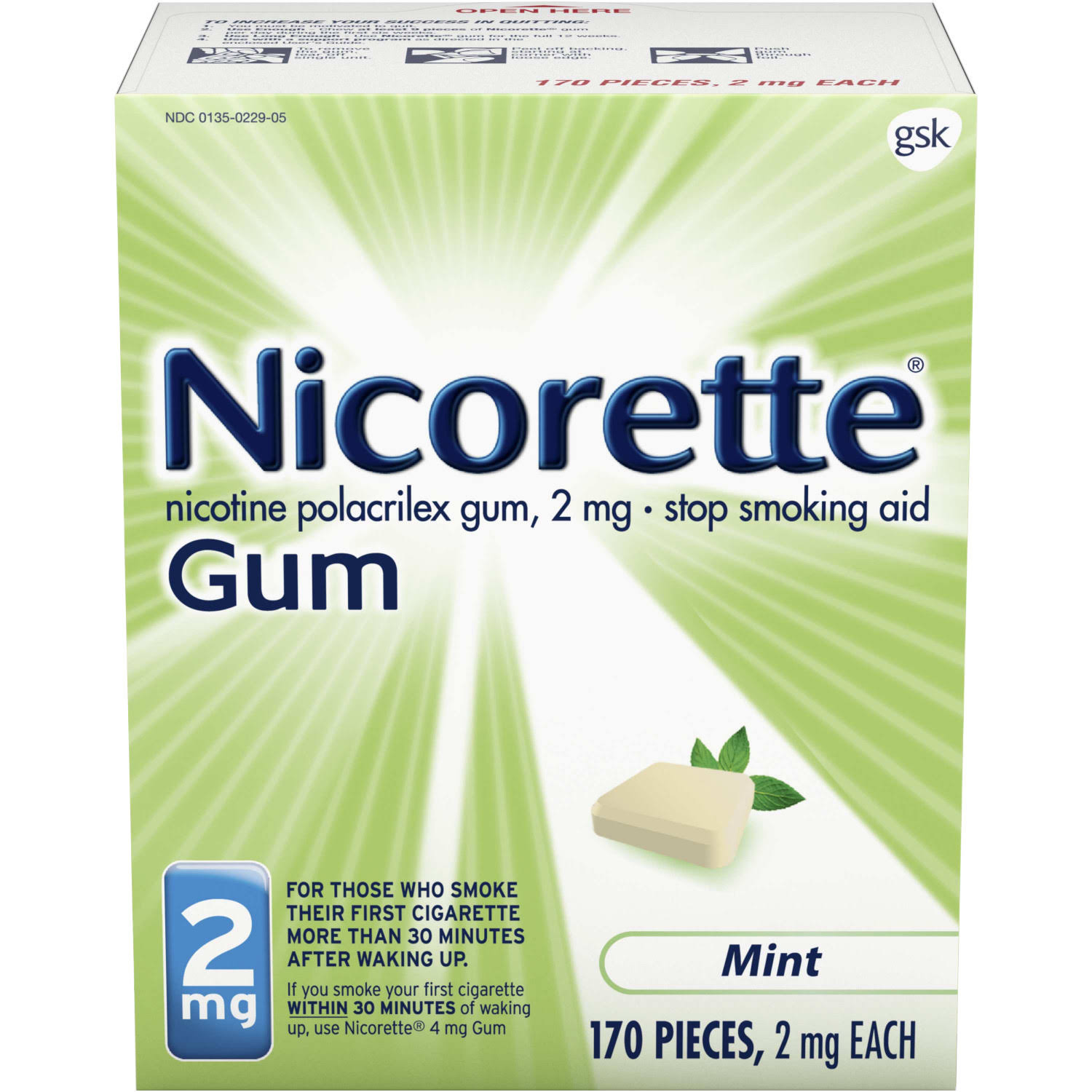 Gsk Nicorette Mint Gum - 2mg, 170ct