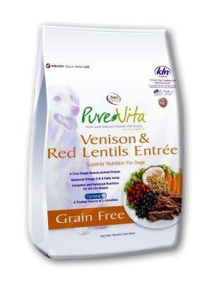 Pure Vita Grain Free Dog Food - Venison and Red Lentils Entree
