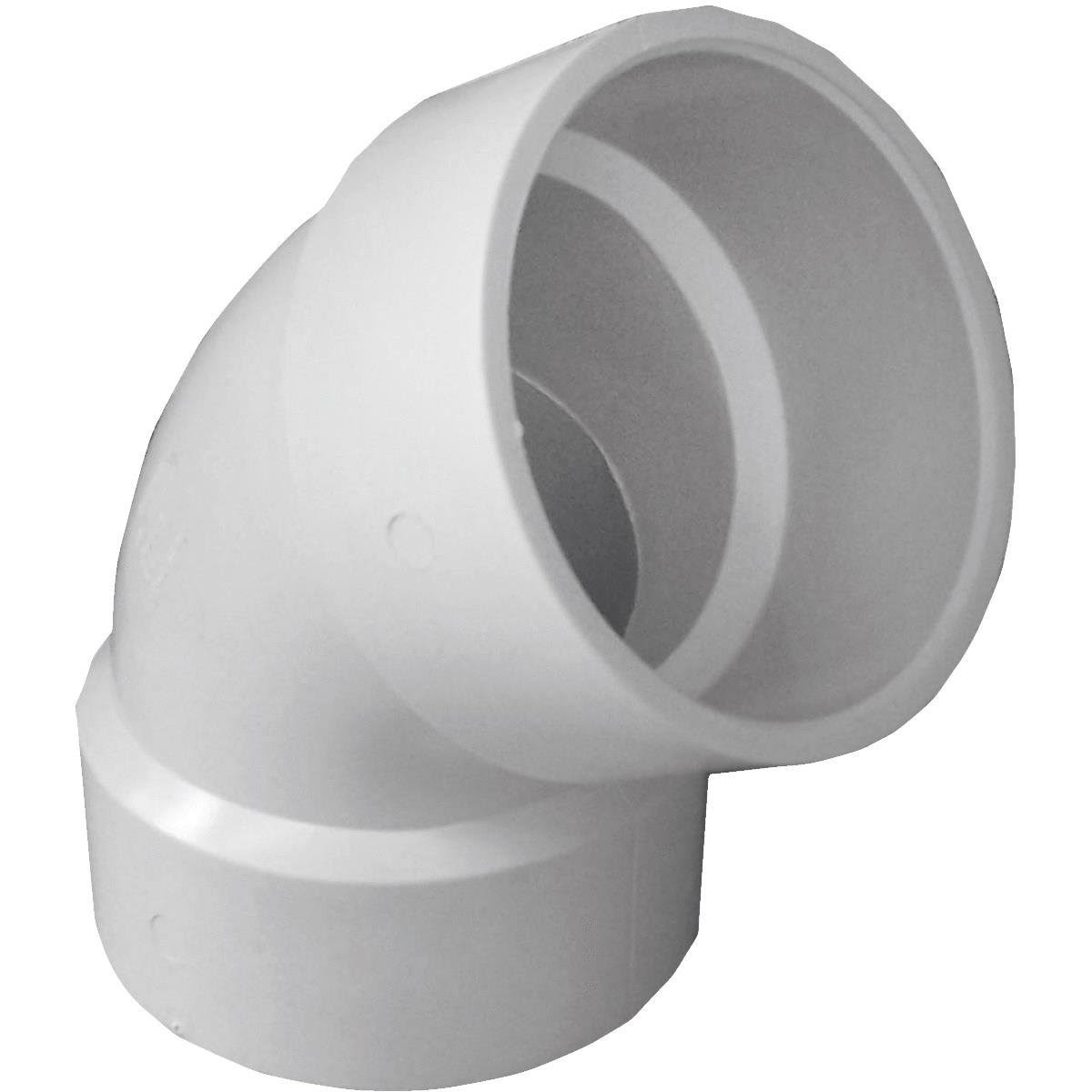 Genova 60 Degree Elbow - White, 3''