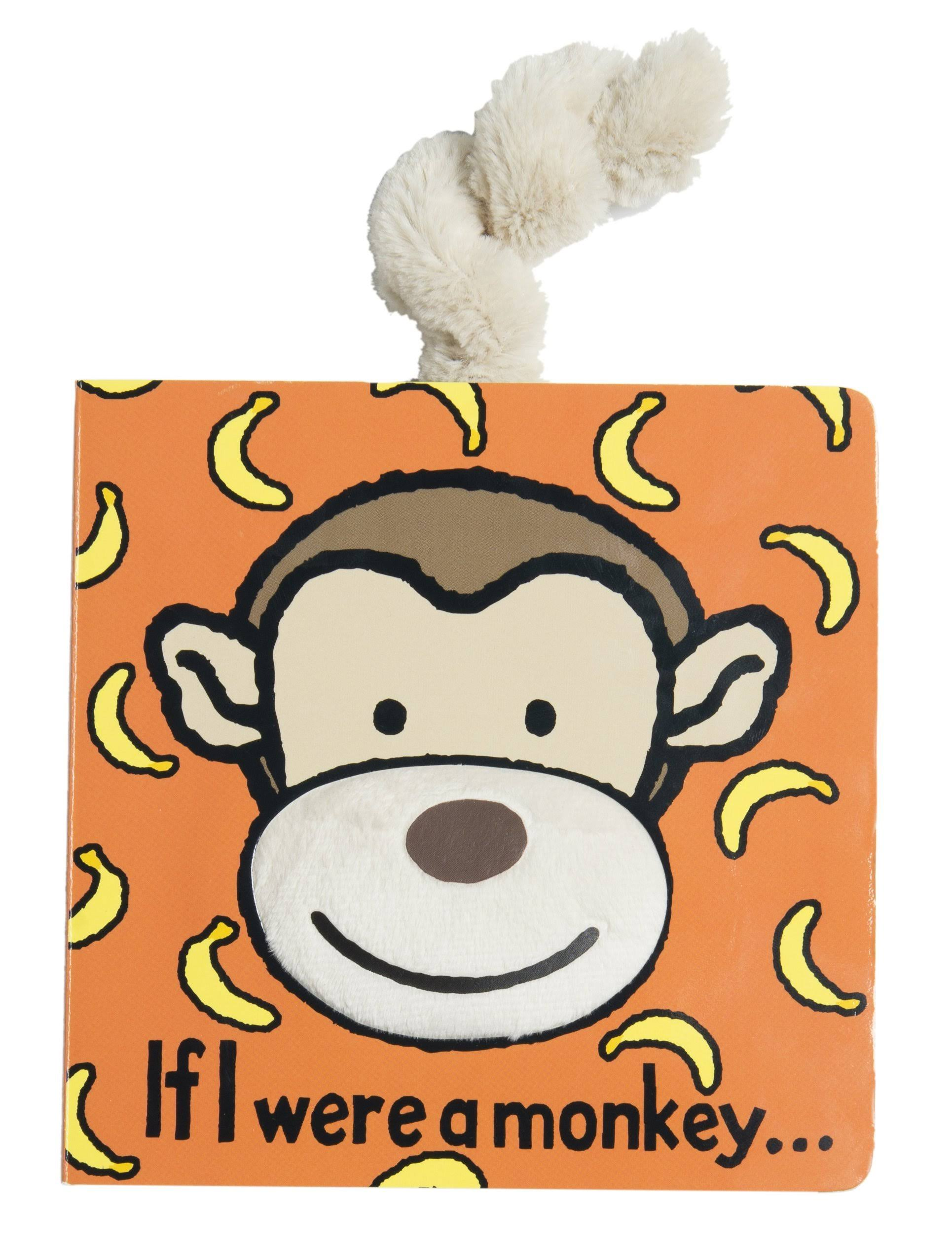 Jellycat Board Book - If I Were a Monkey Book, 15cm