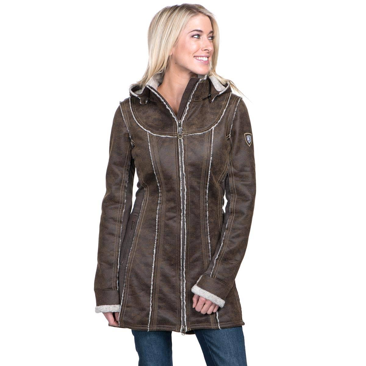 Kuhl Women's Dani Sherpa Trench Coat - Oak, Large