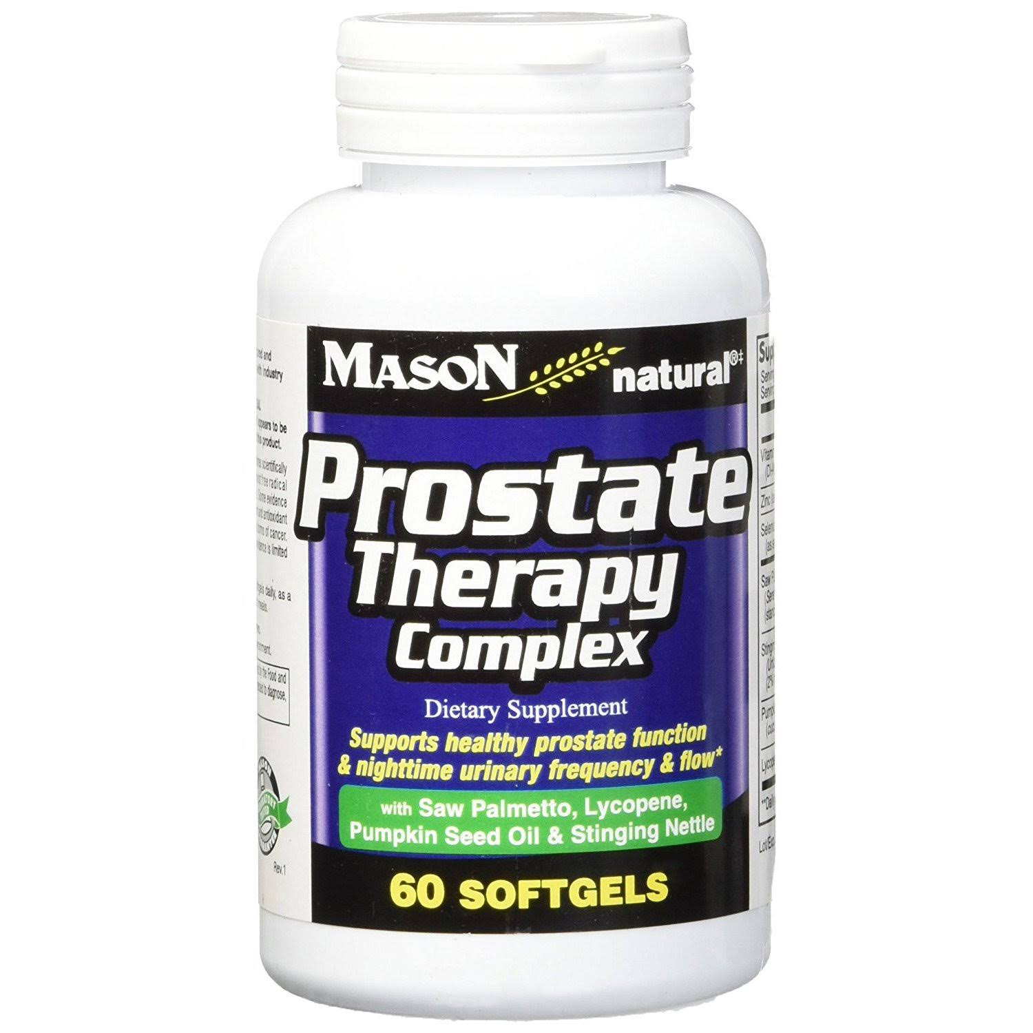 Mason Natural Prostate Therapy Complex Dietary Supplement - 60 Softgels