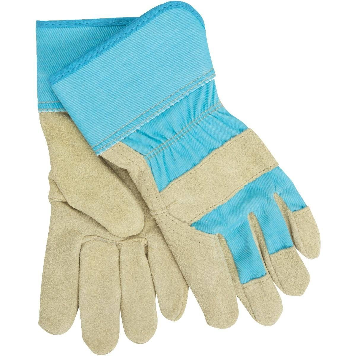 West Chester Protective Gear Dirty Work Women's Leather Work Gloves - Blue