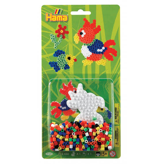 Hama Beads Parrot & Fish Activity Kit