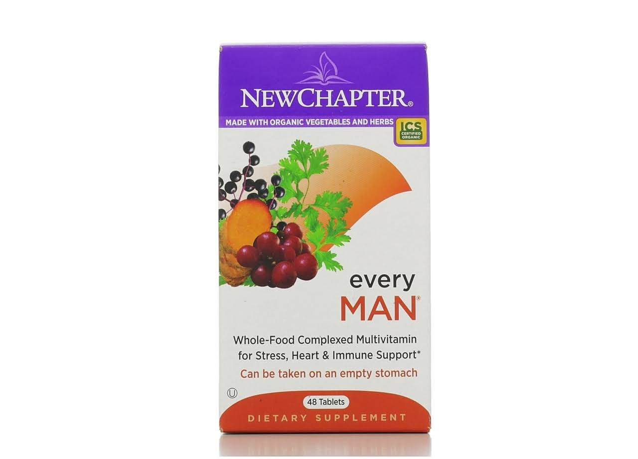 New Chapter Every Man Multivitamin Supplement - 48 Tablets