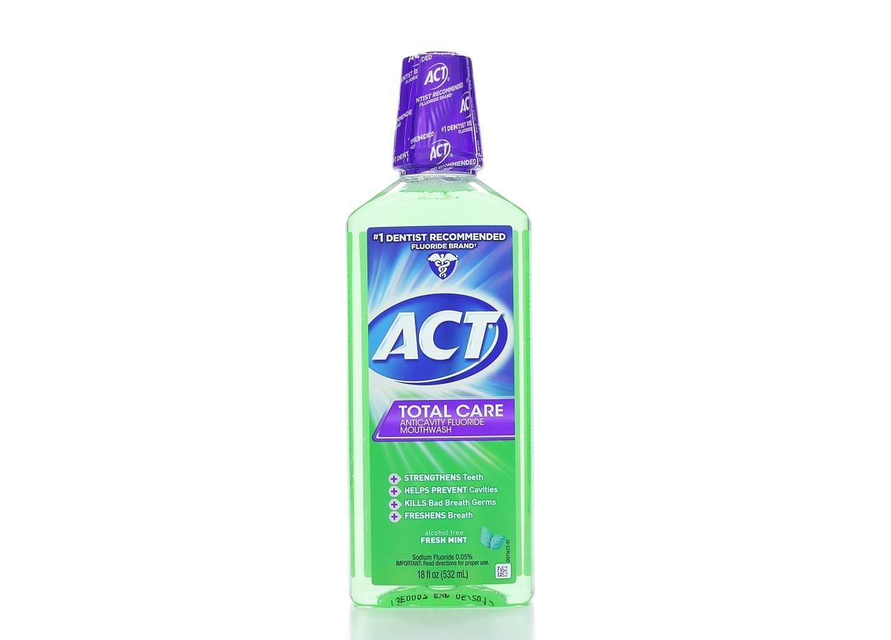 ACT Total Care Anticavity Fluoride Mouthwash - Fresh Mint, 18oz