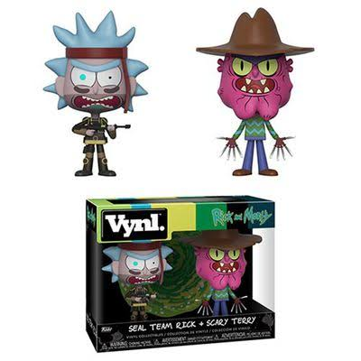 Funko Rick and Morty Seal Team Rick and Scary Terry Vyni Action Figuresl