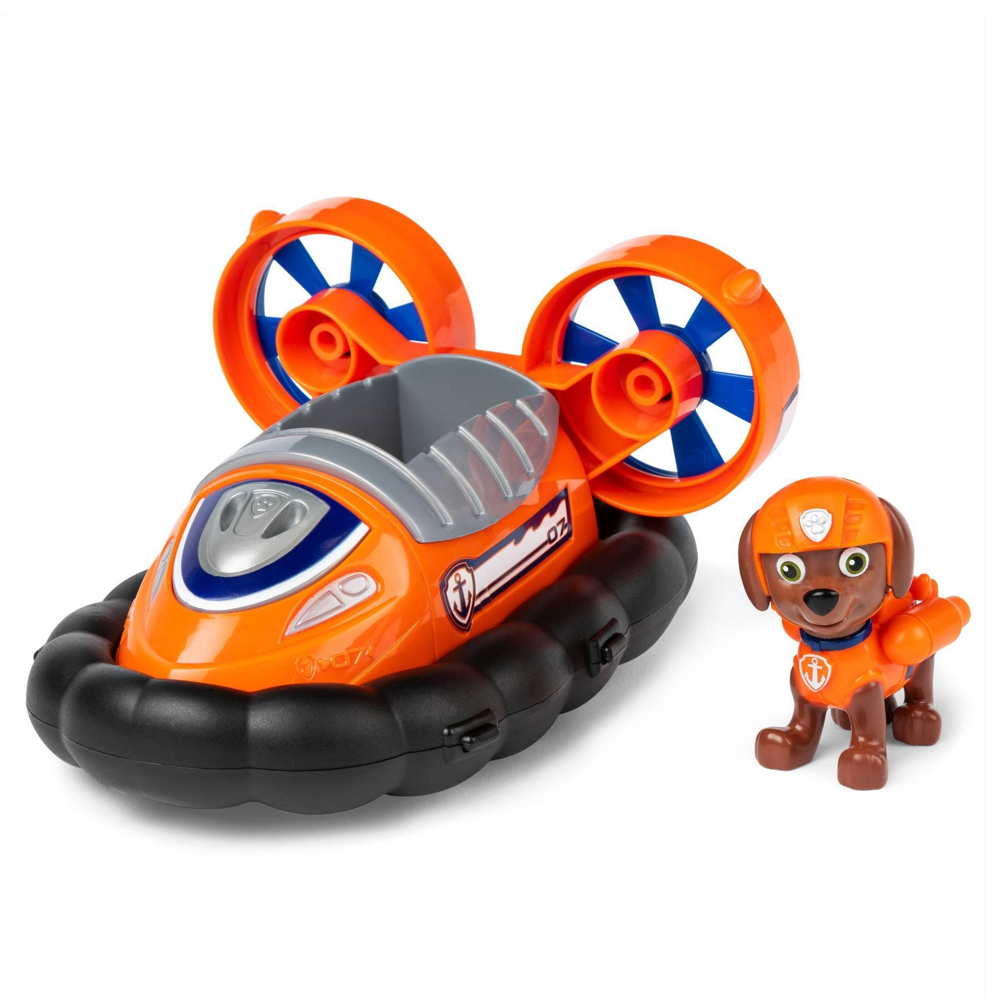 Paw Patrol, Zuma?s Hovercraft Vehicle with Collectible Figure, for Kids Aged 3 and Up