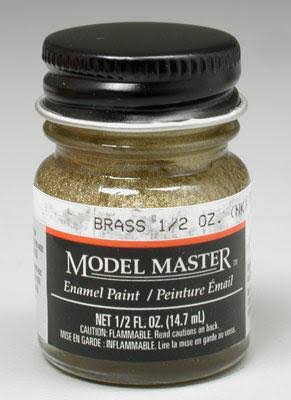 Model Master Brass Enamel Paint 1/2 oz Testors 1782