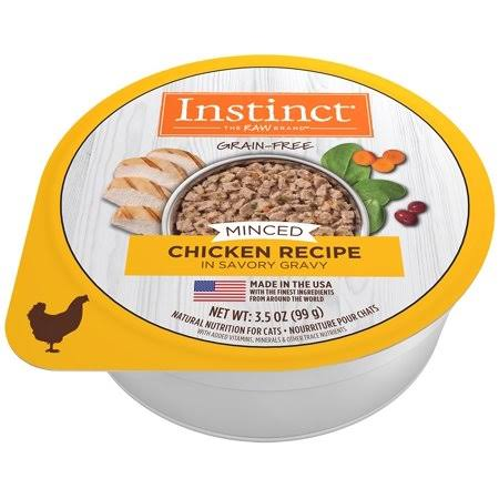 Chewy.com Instinct by Nature's Variety Grain-Free Minced Recipe with Real Chicken Wet Cat Food Cups, 3.5-oz, Case of 12