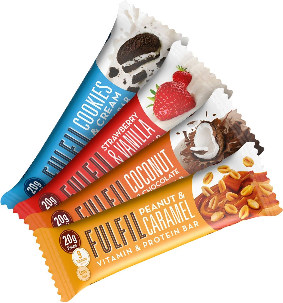 Fulfil Vitamin & Protein Bar 15 Bars Peanut & Caramel