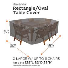 Fortunoff Patio Furniture Covers by Amazon Com Classic Accessories Ravenna Rectangular Oval Patio