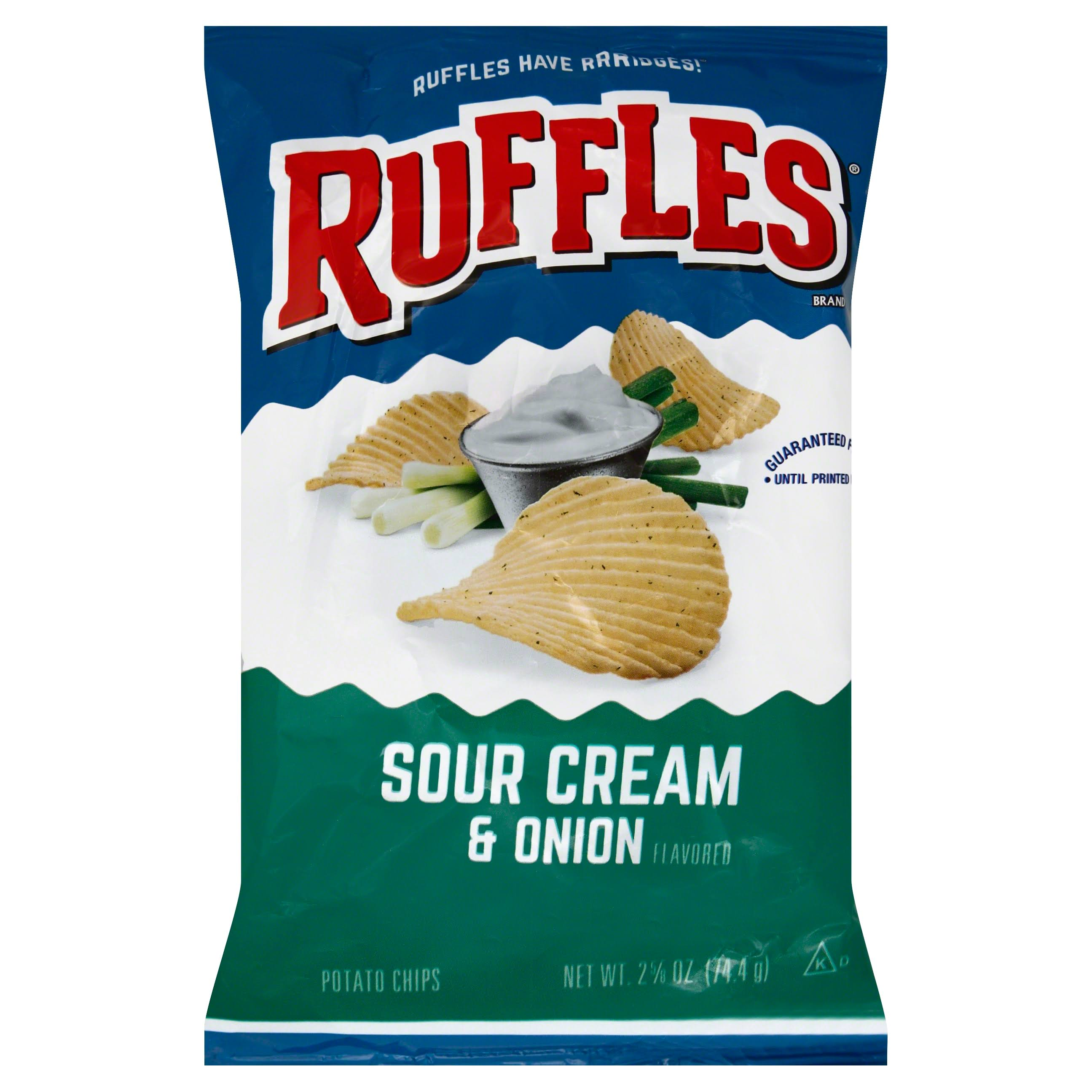 Ruffles Potato Chips - Sour Cream and Onion