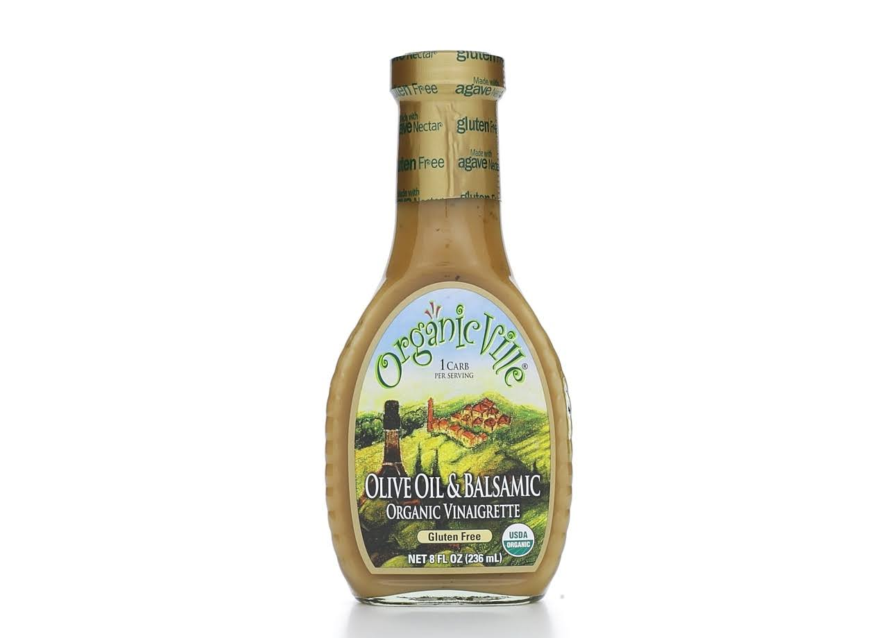 Organicville 26691 Organic Vinaigrette - Olive Oil and Balsamic, 8oz