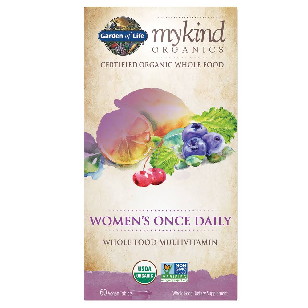 Garden of Life Kind Organics for Women Once Daily Multivitamin - 60 Tablets