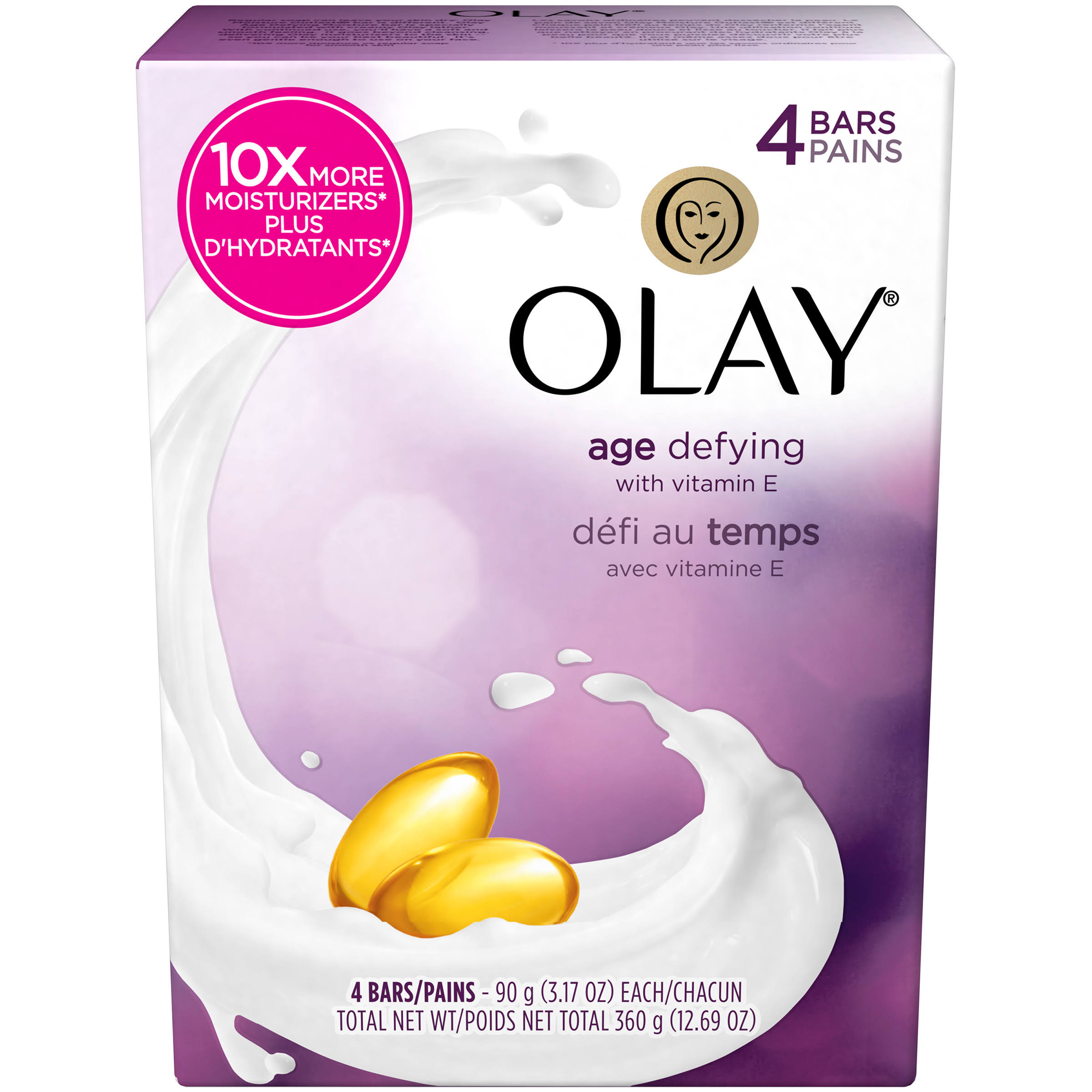 Olay Age Defying Moisturising Body Bar - 4 ct