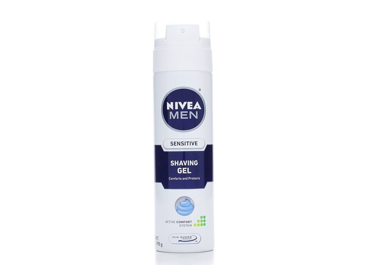 Nivea For Men Shaving Gel - Sensitive, 198g