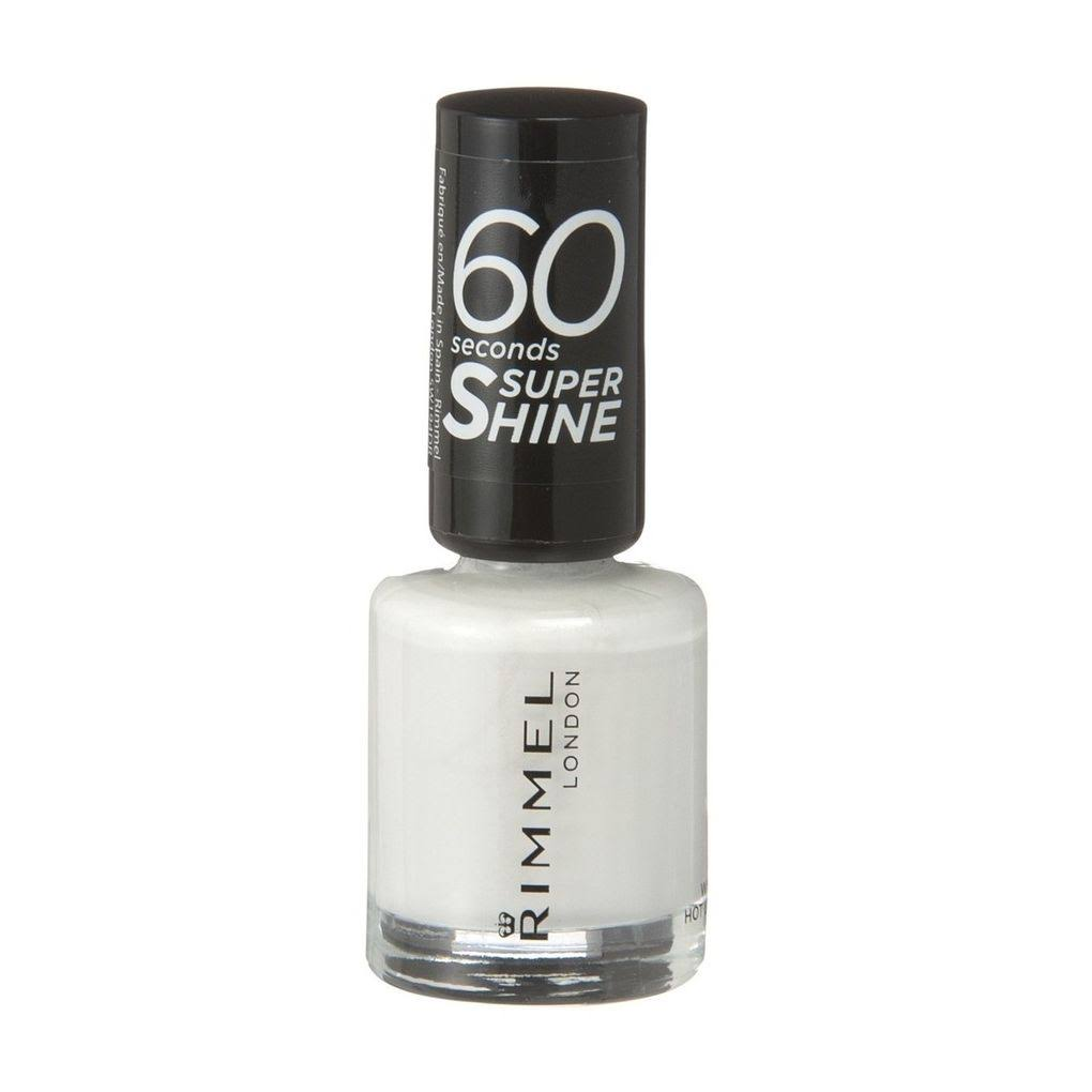 Rimmel London 60 Seconds Super Shine Nail Polish - 703 White Hot Love, 8ml