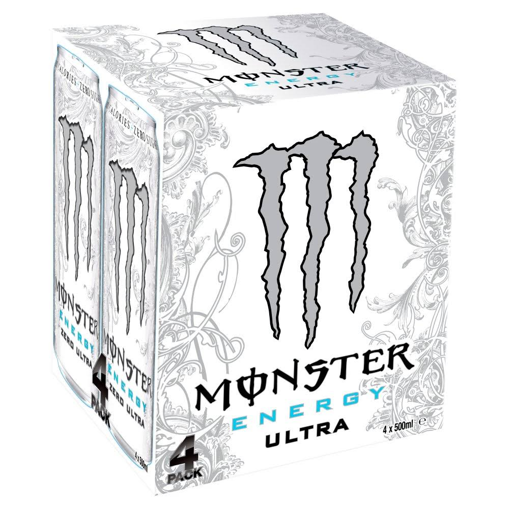 Monster Ultra Energy Drink - 4ct, 500ml