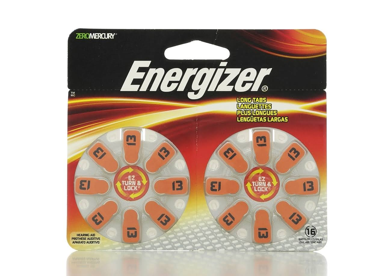 Energizer Hearing Aid Size 13 Batteries - 16ct
