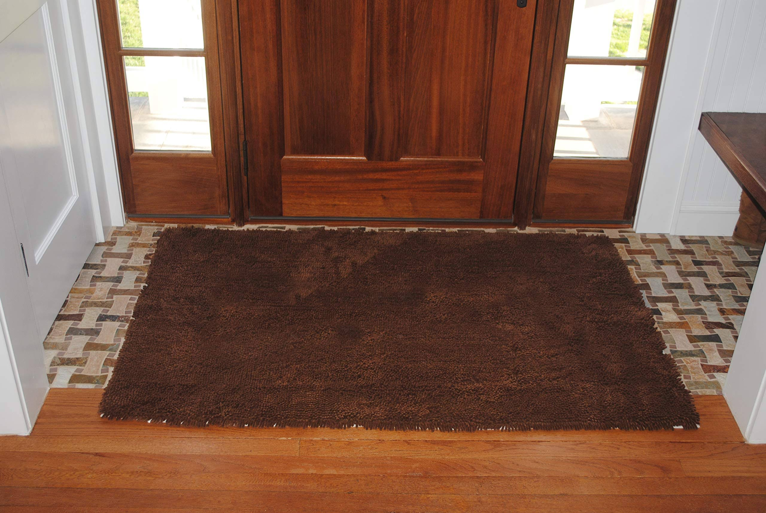 "Soggy Doggy Microfiber Chenille Doormat - Dark Chocolate, 36"" x 60"""