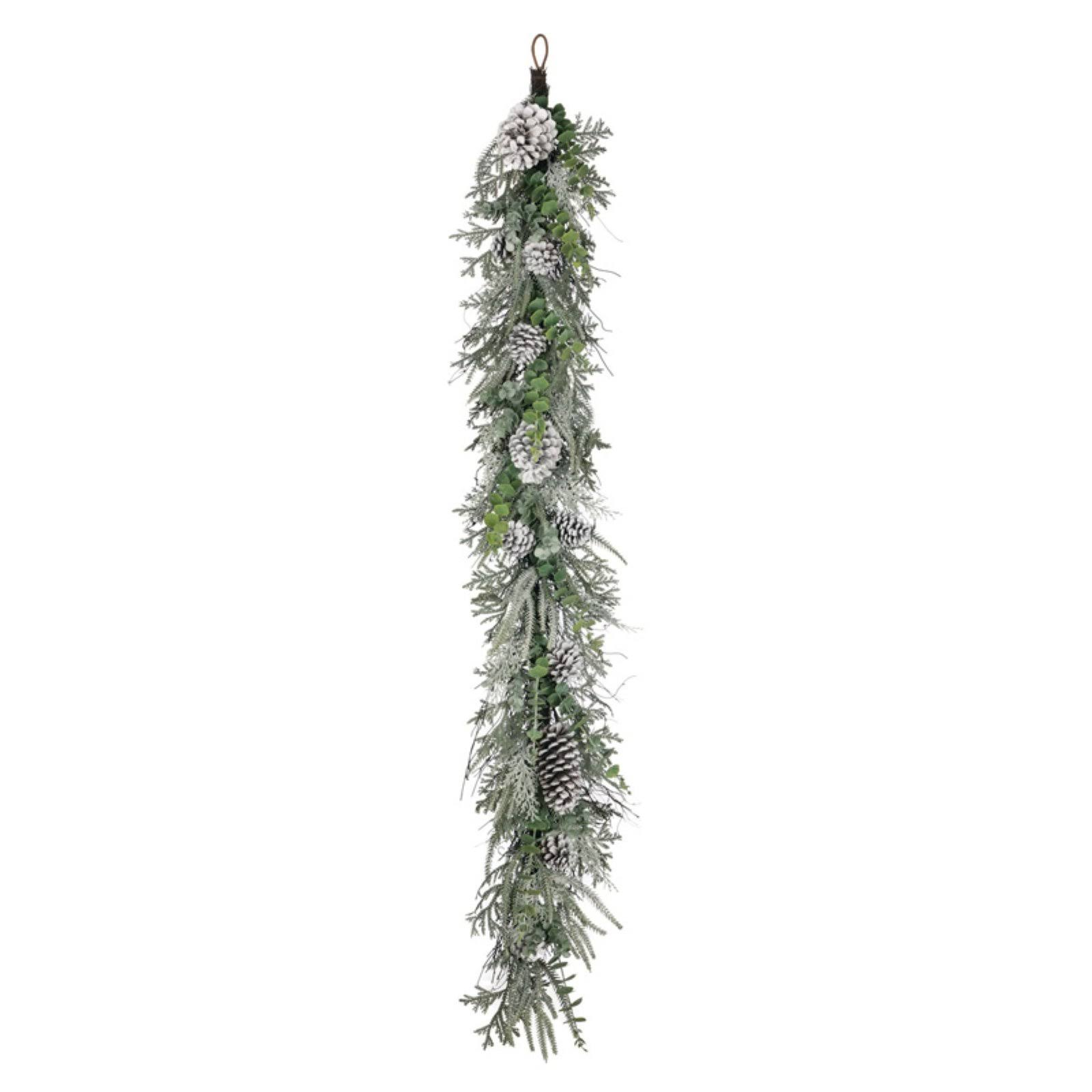 Sullivans 5 ft. Flocked Pine Foliage and Cone Garland