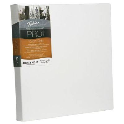 "Fredrix T49123 Stretched Canvas - 40""x40""x1.38"", 3pk"