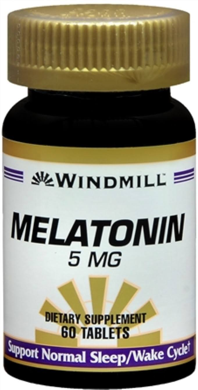 Windmill Melatonin Dietary Supplement - 60 Tablets