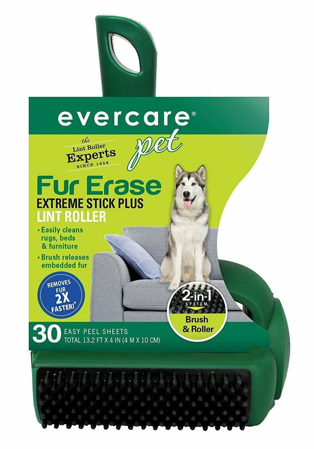 Evercare Fur Erase Pet Hair Remover - 30 Sheet Lint Roller