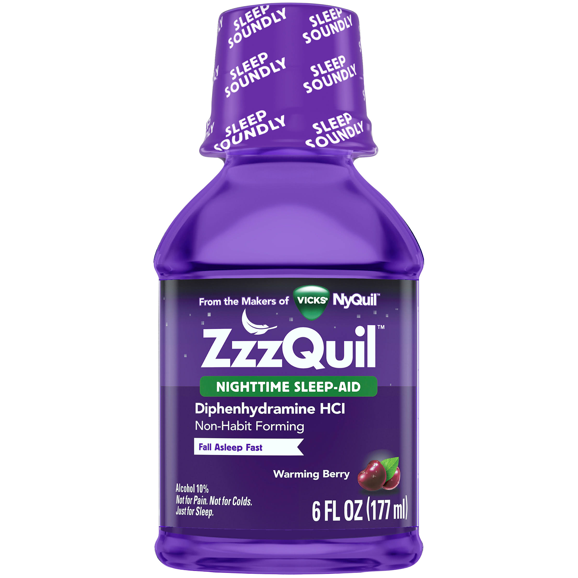 Zzzquil Nighttime Sleep-Aid - Warming Berry, 6oz