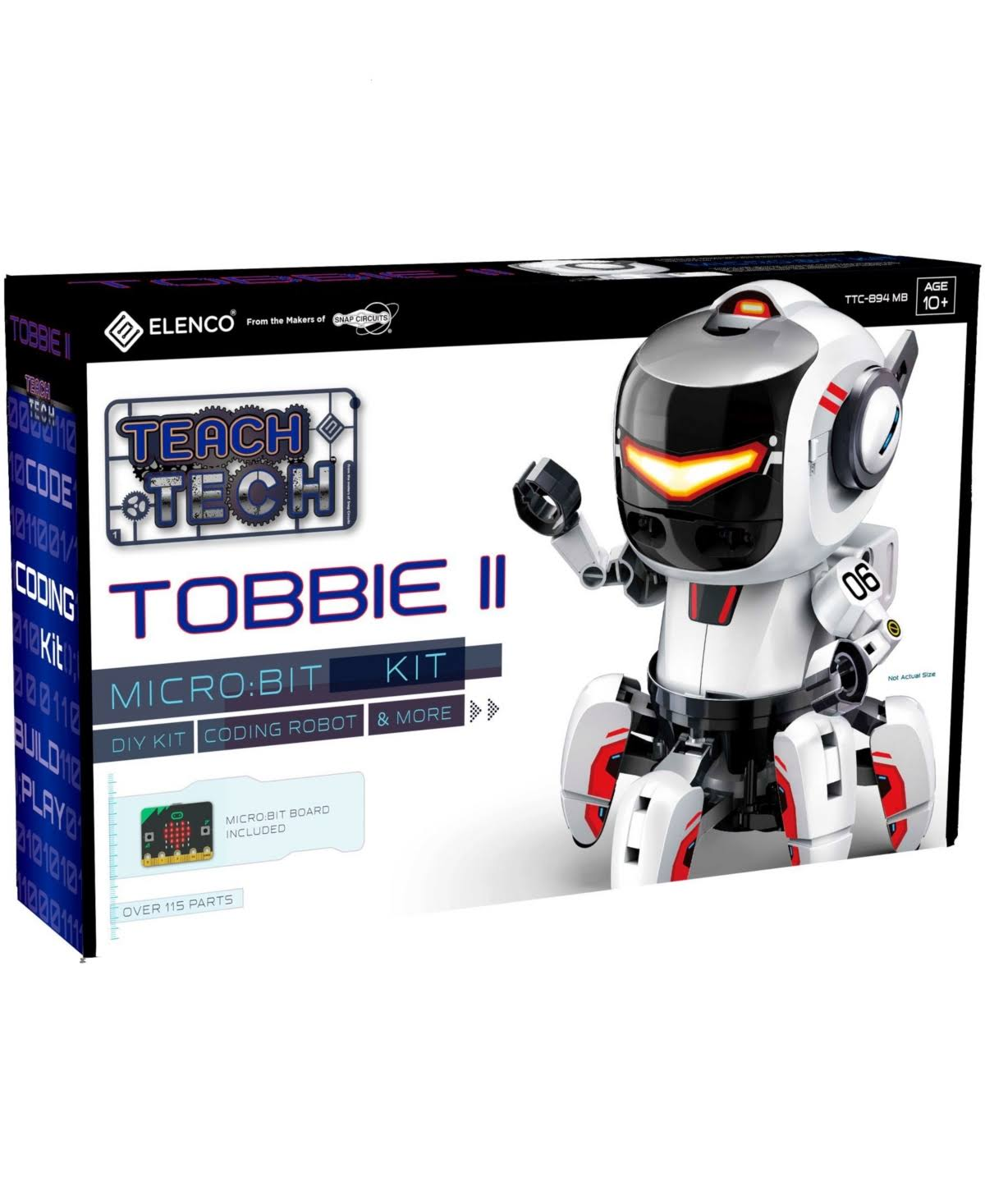 Tobbie II Coding Robot Teach Tech Elenco Micro Bit Kit