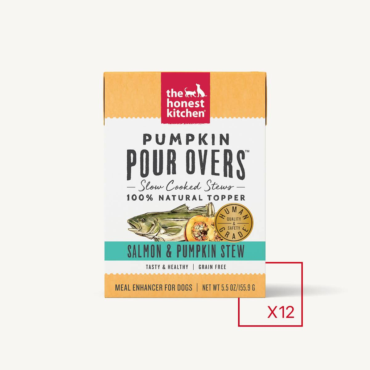 The Honest Kitchen Pumpkin Pour Overs Salmon & Pumpkin Stew, 5.5oz