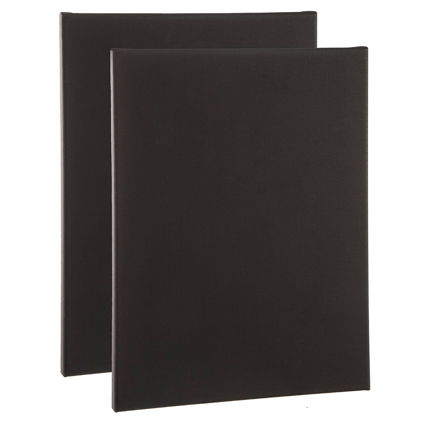 Studio 71 Stretched Canvas: Black, 9 x 12 Inches, 2 Pieces