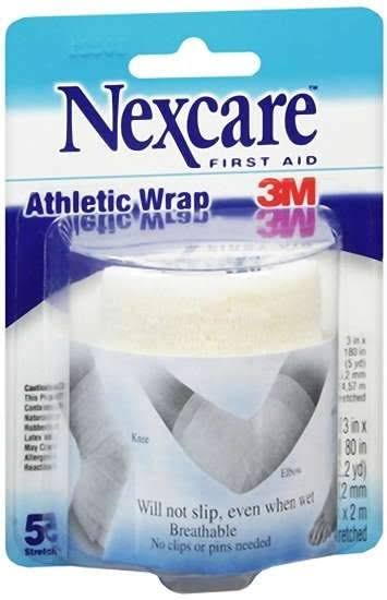 Nexcare First Aid Athletic Wrap, White