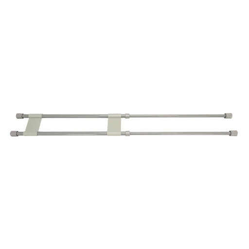Camco 44075 Double Refrigerator Bar - 16 inch to 28 inch, Gray