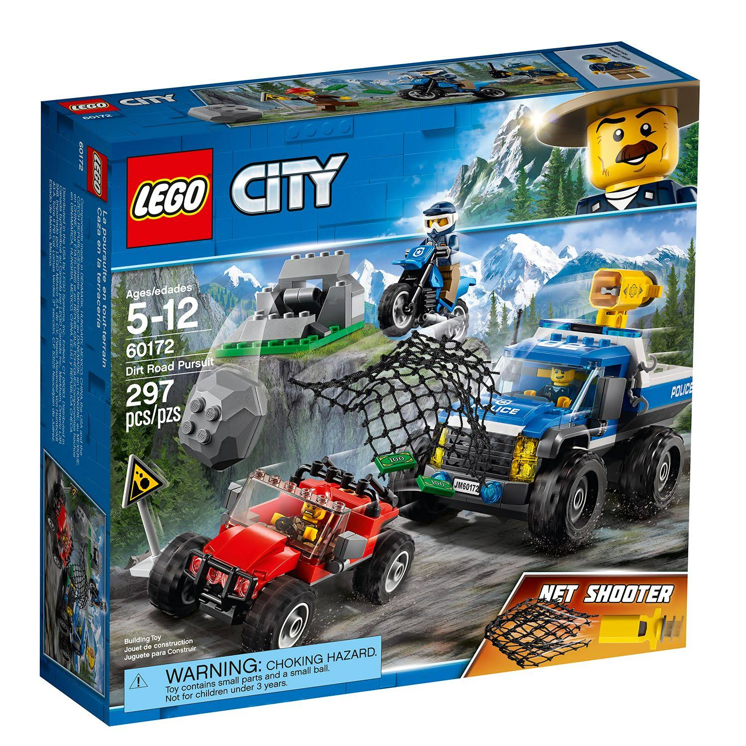 Lego City 60172 Police Dirt Road Pursuit - 297 Pieces