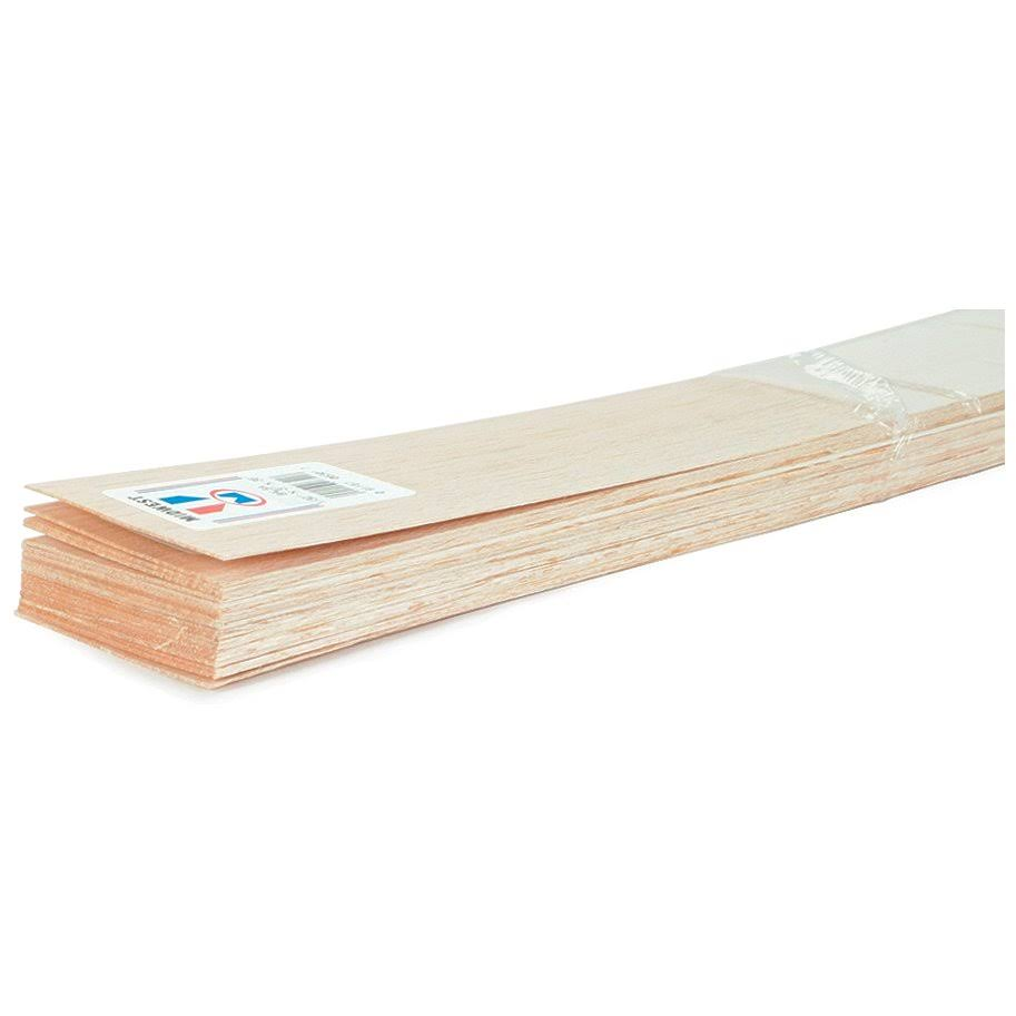 Midwest Balsa Wood Strips - 10 pieces, 3/32inch x 6inch x 36inch