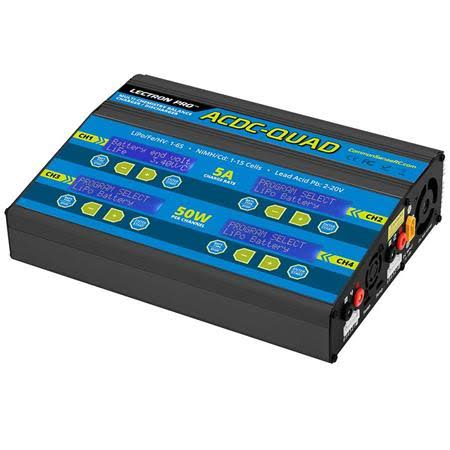 Common Sense RC ACDC-QUAD - Four-Port Multi-Chemistry Balancing Charger (LiPo/LiFe/LiHV/NiMH)