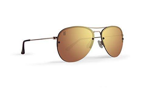 Epoch Eyewear Emerson Rose Gold Frame with Polarized Gold Lens Sunglasses
